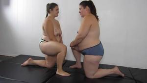CPL Wrestling: SJM-022 Topless BBW Pin Challenge