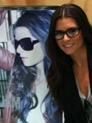 Danica Patrick Sexy in Her New Glasses - Twitter Photo