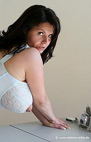 Velba sucking milena breast